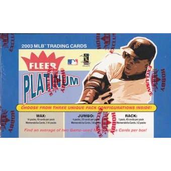 2003 Fleer Platinum Baseball Hobby Box