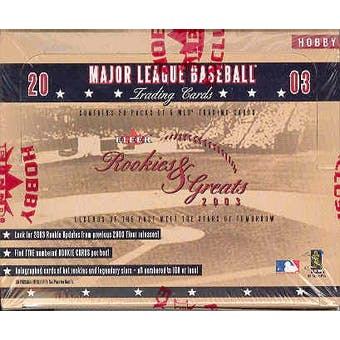 2003 Fleer Rookies and Greats Baseball Hobby Box