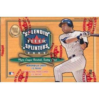 2003 Fleer Splendid Splinters Baseball Hobby Box