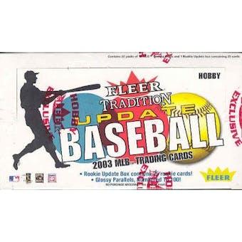 2003 Fleer Tradition Update Baseball Hobby Box