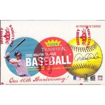 2003 Fleer Tradition Baseball Hobby Box