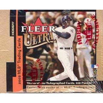 2003 Fleer Ultra Baseball Hobby Box
