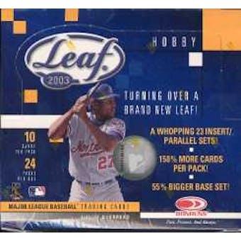 2003 Leaf Baseball Hobby Box