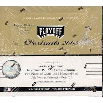 2003 Playoff Portraits Baseball Hobby Box