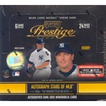 2003 Playoff Prestige Baseball Hobby Box
