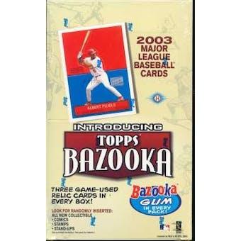 2003 Topps Bazooka Baseball Hobby Box