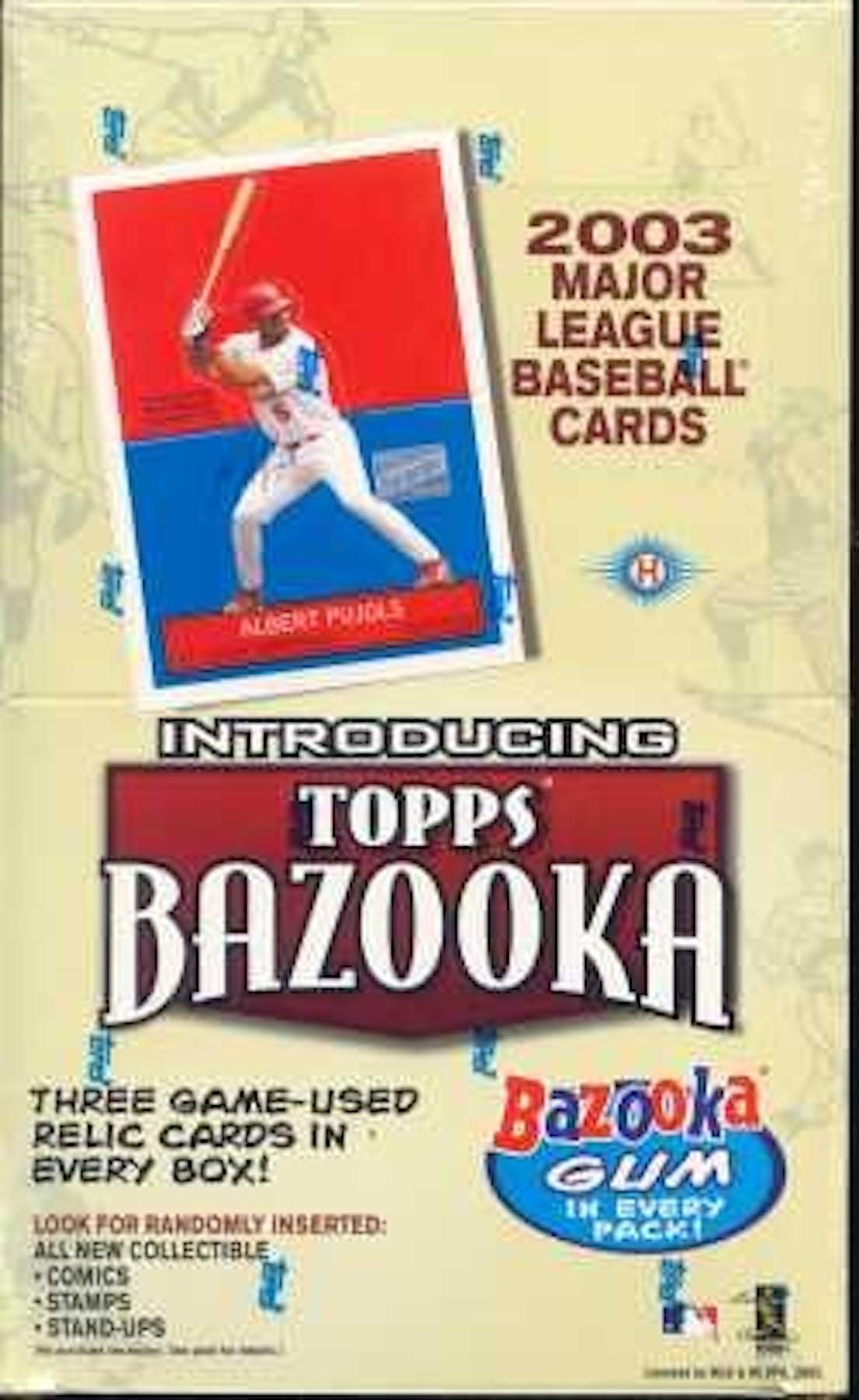 2003 Topps Bazooka Baseball Hobby Box Da Card World