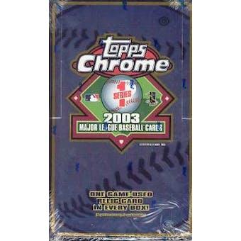 2003 Topps Chrome Series 1 Baseball Hobby Box