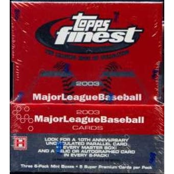 2003 Topps Finest Baseball Hobby Box