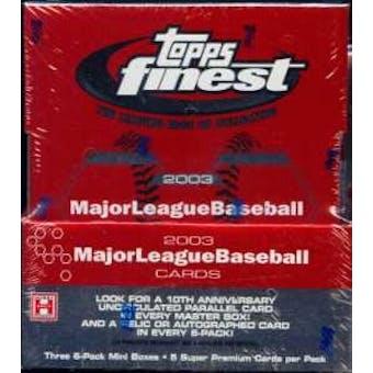 2003 Topps Finest Baseball Hobby Box