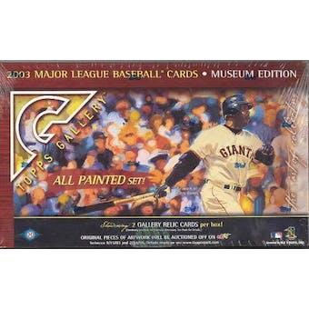 2003 Topps Gallery Museum Edition Baseball Hobby Box