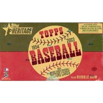 2003 Topps Heritage Baseball Hobby Box