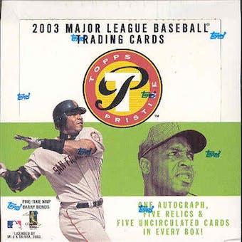 2003 Topps Pristine Baseball Hobby Box