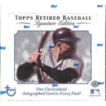 2003 Topps Retired Signature Edition Baseball Hobby Box