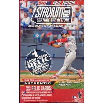 2003 Topps Stadium Club Baseball Hobby Box