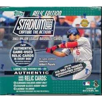 2003 Topps Stadium Club Baseball Jumbo Box
