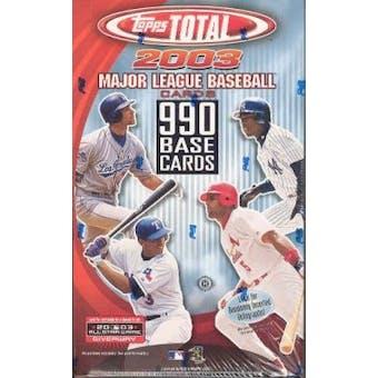 2003 Topps Total Baseball Hobby Box
