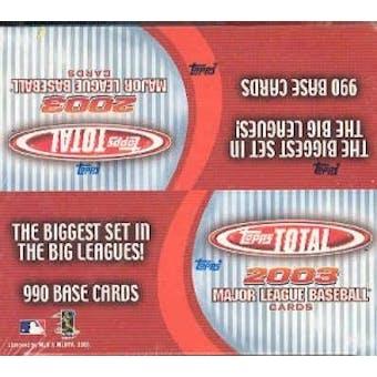 2003 Topps Total Baseball 36 Pack Box