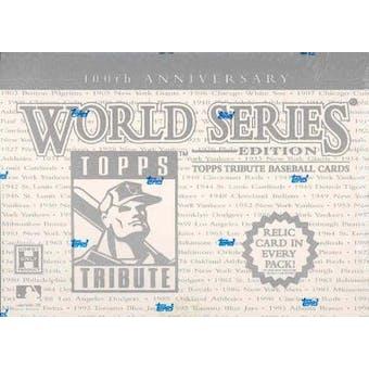2003 Topps Tribute 100th Anniversary World Series Baseball Hobby Box