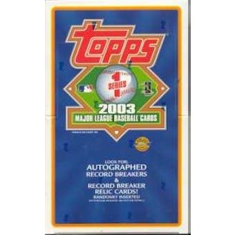 2003 Topps Series 1 Baseball Jumbo Box
