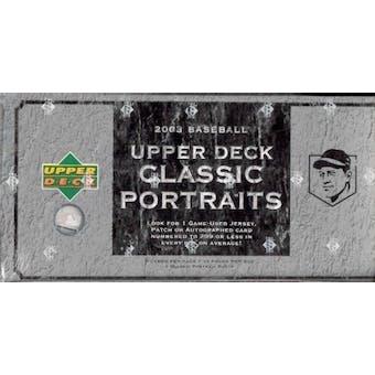 2003 Upper Deck Classic Portraits Baseball Hobby Box