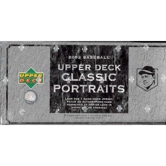 2003 Upper Deck Classic Portraits Baseball Hobby Box