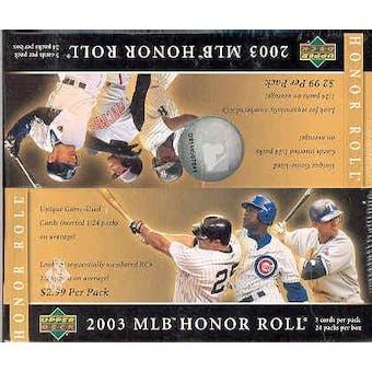 2003 Upper Deck Honor Roll Baseball 24 Pack Box