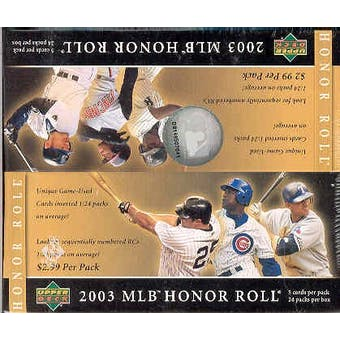 2003 Upper Deck Honor Roll Baseball 24 Pack Box