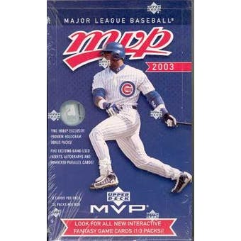 2003 Upper Deck MVP Baseball Hobby Box