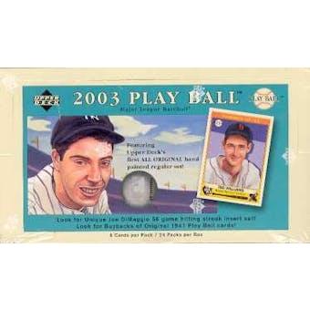 2003 Upper Deck Play Ball Baseball Hobby Box