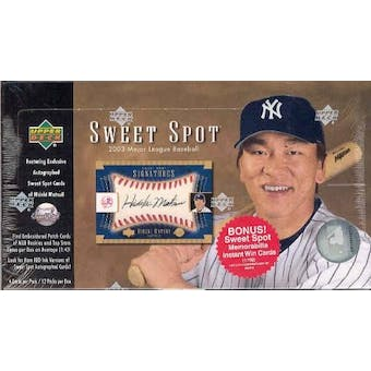 2003 Upper Deck Sweet Spot Baseball Hobby Box
