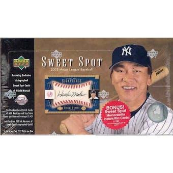 2003 Upper Deck Sweet Spot Baseball Hobby Box
