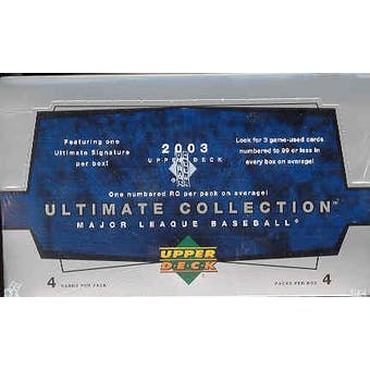 2003 Upper Deck Ultimate Collection Baseball Hobby Box