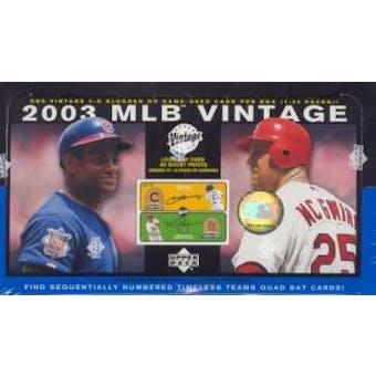 2003 Upper Deck Vintage Baseball Hobby Box