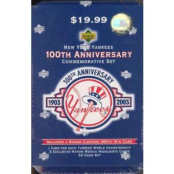 2003 Upper Deck New York Yankees 100th Anniversary Baseball Factory Set (Box)