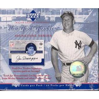 2003 Upper Deck Yankee Signature Series Baseball Hobby Box