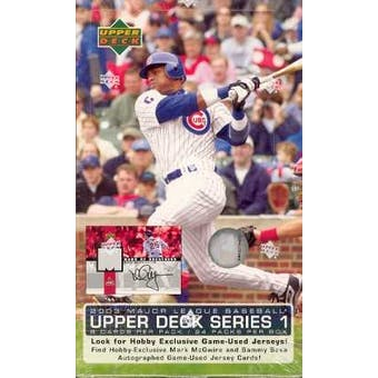 2003 Upper Deck Series 1 Baseball Hobby Box