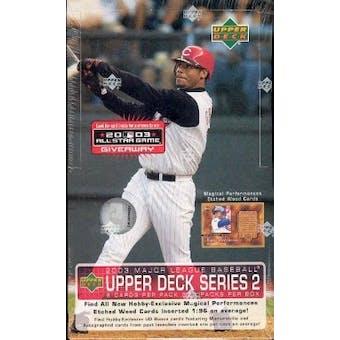 2003 Upper Deck Series 2 Baseball Hobby Box