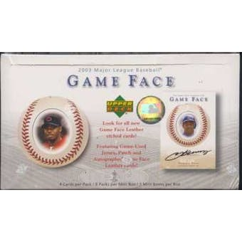 2003 Upper Deck Game Face Baseball Hobby Box