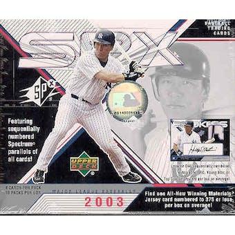 2003 Upper Deck SPx Baseball Hobby Box