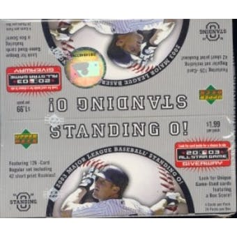 2003 Upper Deck Standing O! Baseball Box
