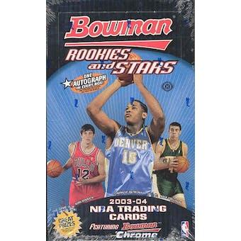 2003/04 Bowman Rookies & Stars Basketball Hobby Box