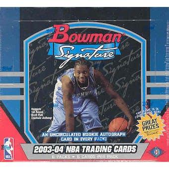 2003/04 Bowman Signature Basketball Hobby Box