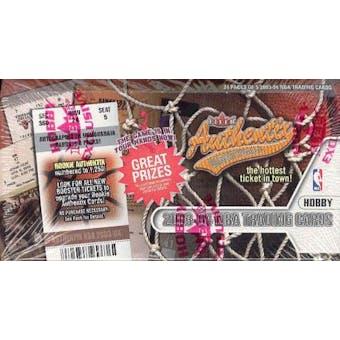 2003/04 Fleer Authentix Basketball Hobby Box