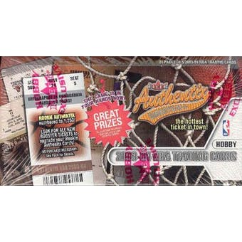2003/04 Fleer Authentix Basketball Hobby Box