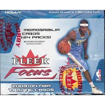2003/04 Fleer Focus Basketball Hobby Box