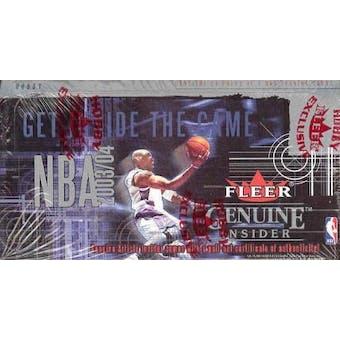 2003/04 Fleer Genuine Insider Basketball Hobby Box