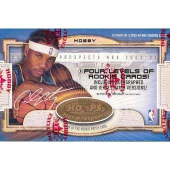 2003/04 Fleer Hoops Hot Prospects Basketball Hobby Box