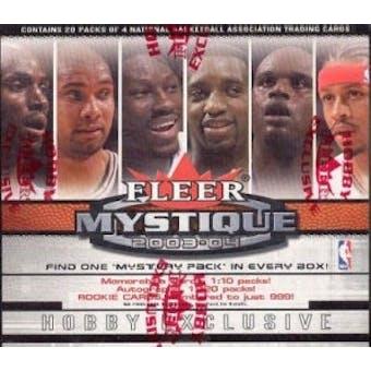 2003/04 Fleer Mystique Basketball Hobby Box
