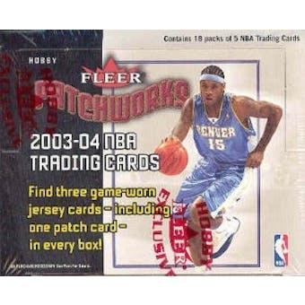 2003/04 Fleer Patchworks Basketball Hobby Box